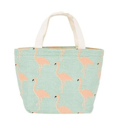 Cold Insulation Lunch Bag - Flamingo (Green) 保溫袋 - 綠色紅鶴