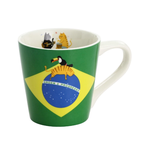 Cat National Flag Cup - Brazil 貓杯 - 巴西