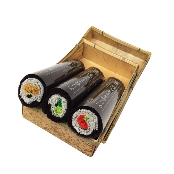 Norimaki Towel Gift sets Bamboo Bento Box Thin Roll×3 壽司型毛巾套裝 - 3件裝
