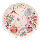 Paris Picture Map Side Plate B 圓形碟 B