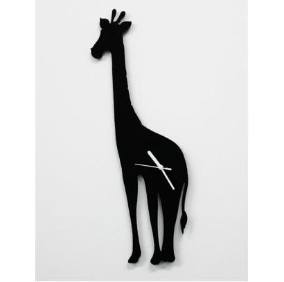 Big Giraffe Silhouette Wall Clock