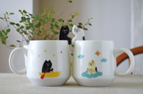 Mug with Black Cat Spoon 黑色貓匙羹連杯