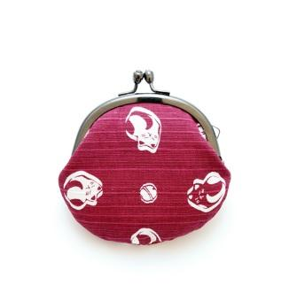日本制錢包 (小) - 紅色 Japanese Coins Purse - Wine Red Cat (Small)