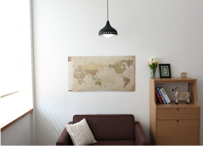 Vintage World Map + PVC Map + Deco Stickers