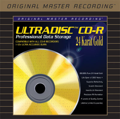 Mobile Fidelity Ultradisc™ 24 KT Gold CD-R (each) 74 min/650 mb