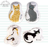 MEOW! MEOW! NEKO SARA Mini Plate - White Black Cat 黑白貓小碟
