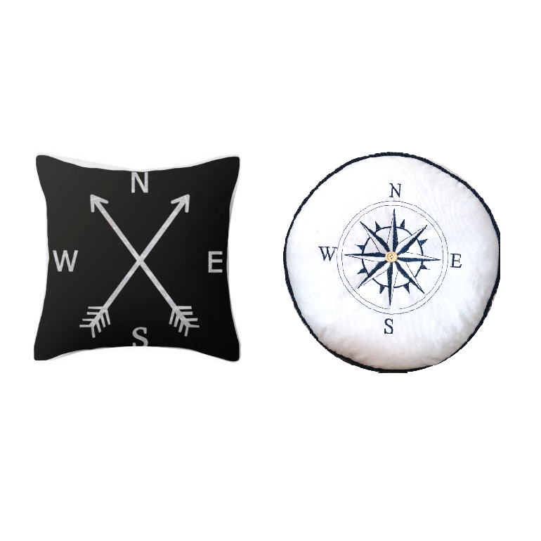Compass Collection Pillow