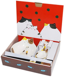 貓貓小碗套裝 - 三色貓 Cat Bowl Gift Set - Three Wool Cat
