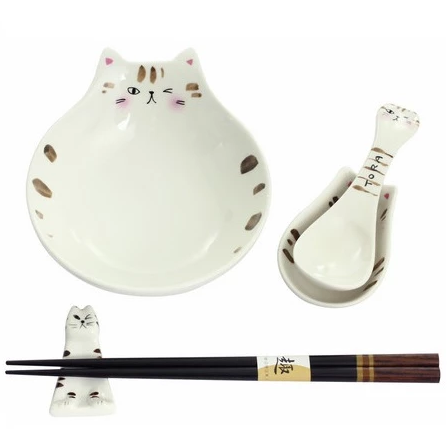 貓貓小碗套裝 - 虎貓 Cat Bowl Gift Set - Tora Cat