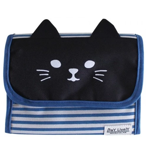 Storage Case Blue (Black Cat) 藍色儲物袋 - 黑色貓