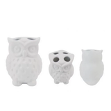 Toothbrush Stand - White Owl 牙刷座 - 白色貓頭鷹