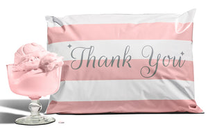 10x13 Bubble Gum Pink Poly Mailers | 12.5x15.5 Thank You Poly Bags