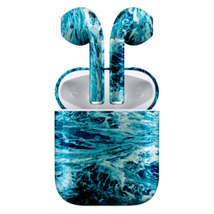 Ocean Waves Custom AirPods