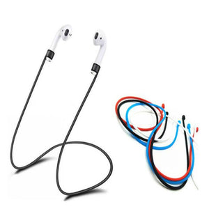 Anti-Lost Silicone Earphone Rope Holder Cable Bluetooth Headphone Neck Strap Cord String