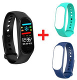 M3S Fitness Bracelet Blood Pressure Heart Rate Monitor Smart Band Fitness Tracker Pedometer Wristband Smart Bracelet Smartwatch.