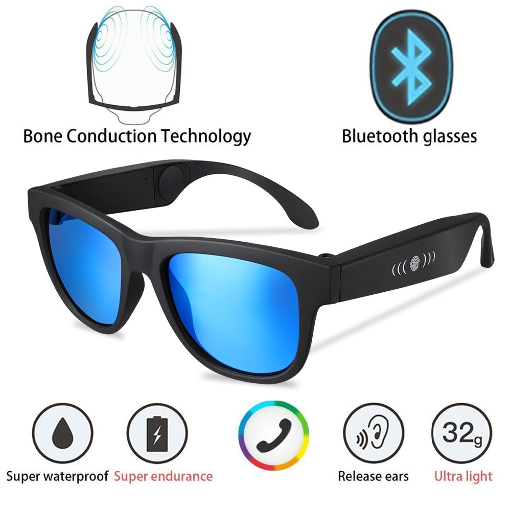 Polarized Bluetooth Bone Conduction Smart Sunglasses