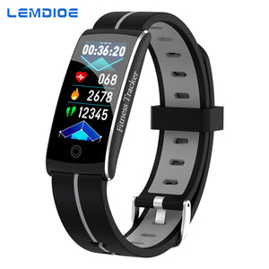 2019 Waterproof IP68 smart fitness tracker, heart rate, blood pressure, call message reminder, pedometer