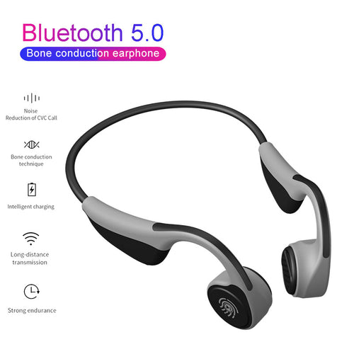 V9 Headphones Bluetooth 5.0 Bone Conduction Headsets Wireless Sports Earphones Handsfree Waterproof  PK Z8 Wireless Headphone