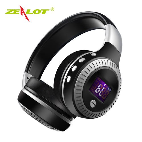 Bluetooth Stereo Bass Headphones with FM Radio and Microphone