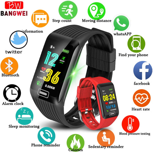 Fitness tracker IP67 Waterproof Wristband Blood Pressure Heart Rate Monitor Pedometer Sport Smart Bracelet