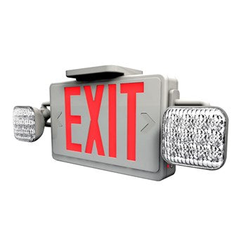 Westgate Combination LED Exit & Emergency Sign - Red or Green #XT-CL-RW-EM/ #XT-CL-GW-EM