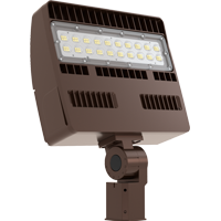 LED Slim/Economic Flood Light, 100W, 120-277V, 5000K -Bronze #CKL-FL83A-100