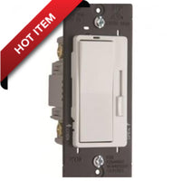 Pass and Seymour 700W Single Pole/3 Way Incandescent Preset Dimmer White # H703PW
