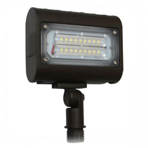 Orbit LED Flood Light, 15W, 120-277V, 5000K, Knuckle Mount - Bronze #LFL7-15W-CW-KN