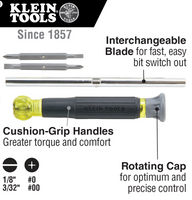 Klein Tools 4-in-1 Electronics Screwdriver Rotating #32581