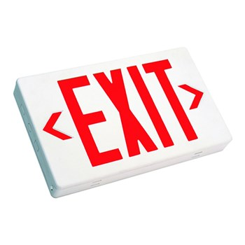 Westgate LED Exit Sign Red or Green Letter White Housing - Red or Green #XT-CL-RW-EM