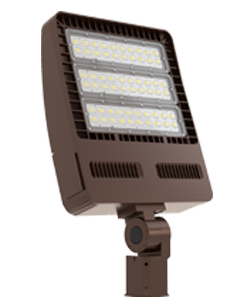 LED Slim/Economic Flood Light, 300W, 120-277V, 5000K- Bronze #CKL-FL85A-300