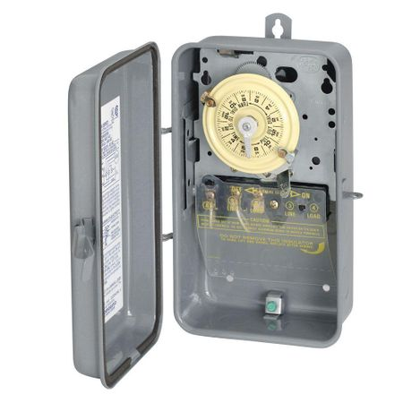 Intermatic 120-Volt SPST 24 Hour Mechanical Time Switch with Outdoor Case #T101R