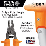 Klein Tools Solid and Stranded Copper Wire Stripper and Cutter #11055-INS