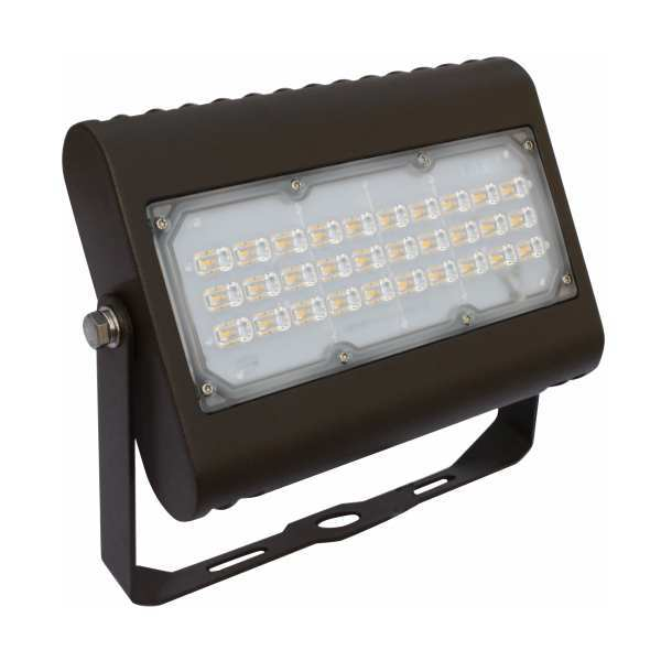 Orbit LED Flood Light, 50W, 120-277V, 5000k Trunnion Mount - Bronze #LFL7-50W-CW-T