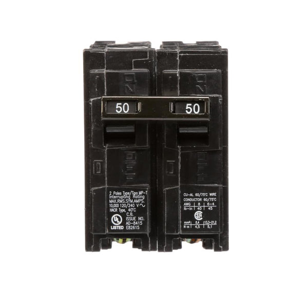 Murray Circuit Breaker, 50 Amp, Double Pole, 240v #MP250