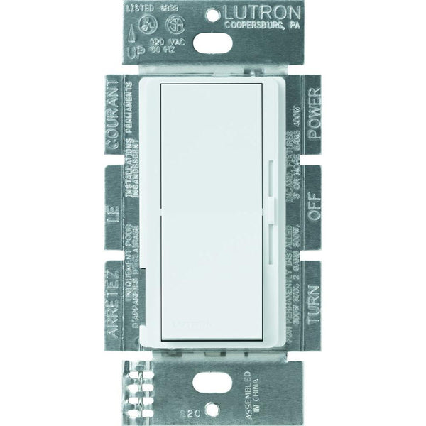 Lutron Diva Incandescent Dimmer, 600W,  250W CFL or LED Single Pole / 3-Way, White #DVCL-253P-WH