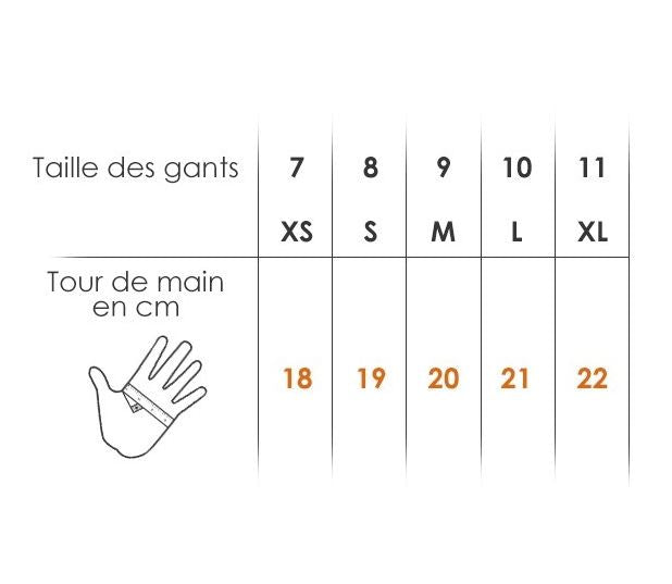 Toorace - Gloves Sizing Chart