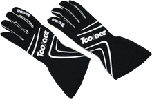 FIA Approved Racing Boots & Gloves combo - Black/White