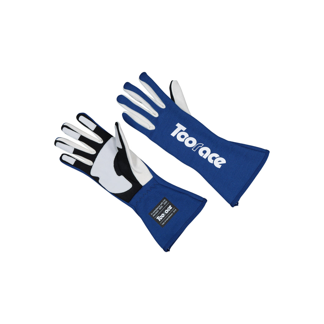 Racing Gloves - Blue/White - FIA Approved