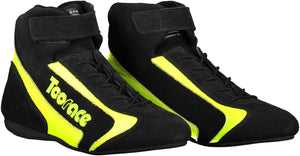 FIA Approved Race Boots - Black & Fluro Yellow