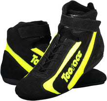 FIA Approved Boots & Glove combo - Black & Fluro Yellow