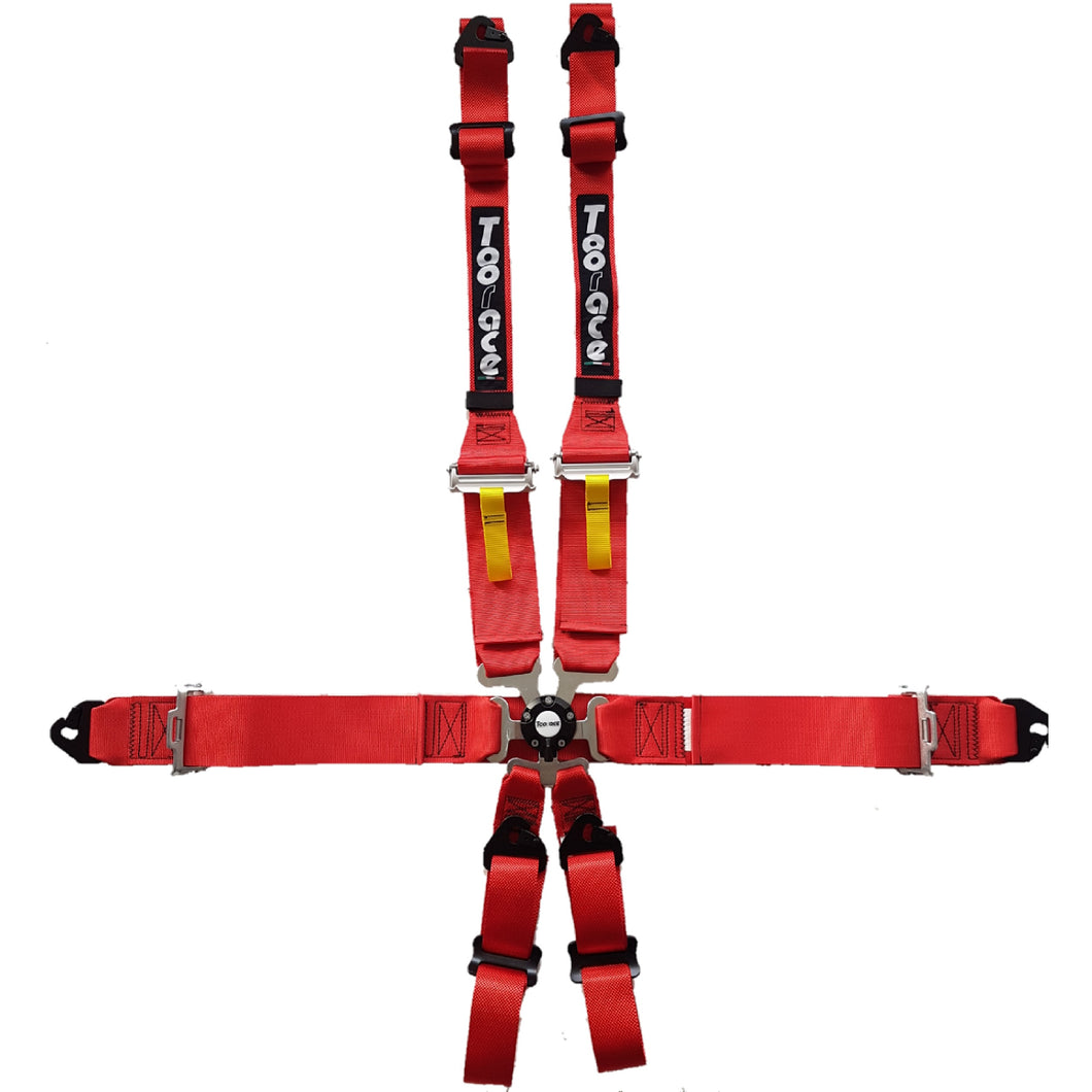 6 Point Safety Harness - Lightweight - HANS Compatable - FIA Approved - Toorace