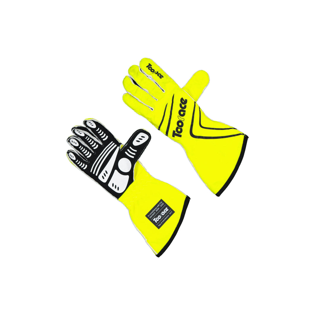 Racing Gloves - Fluro Yellow - FIA Approved