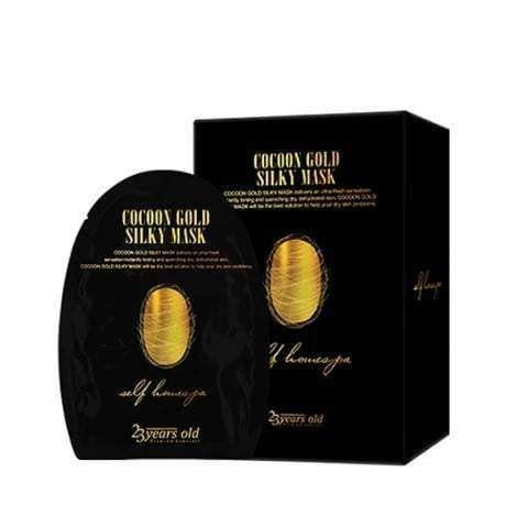 Mask - [23 Years Old] Cocoon Gold Silky Mask (10ea) - Маска с протеином золотого шелкопряда (10 шт) - Adelline Beauty