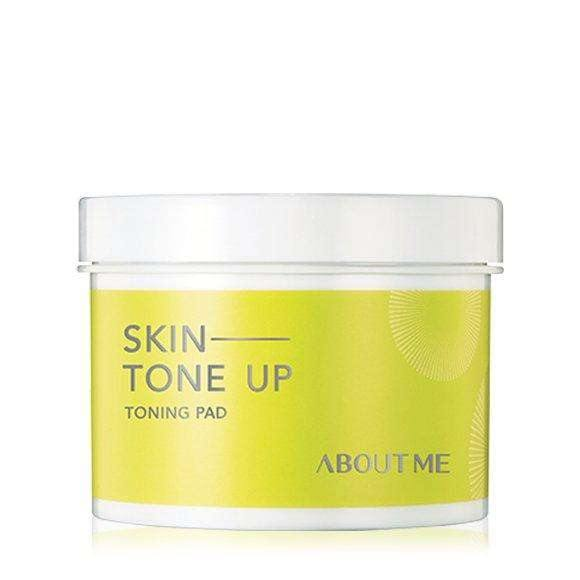 Moisturizer & Treatment - [About Me] Skin Tone Up Toning Pad (60pcs) - Осветляющие ватные диски - Adelline Beauty