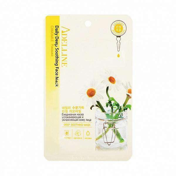 Mask - [Adelline] Facial Mask Camomile [22ML] - Маска для лица с экстрактом ромашки - Adelline Beauty
