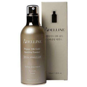 Moisturizer & Treatment - [Adelline] Premium Peptide Sparkling Essence [100ml] - Увлажняющая сыворотка с пептидами и золотом - Adelline Beauty