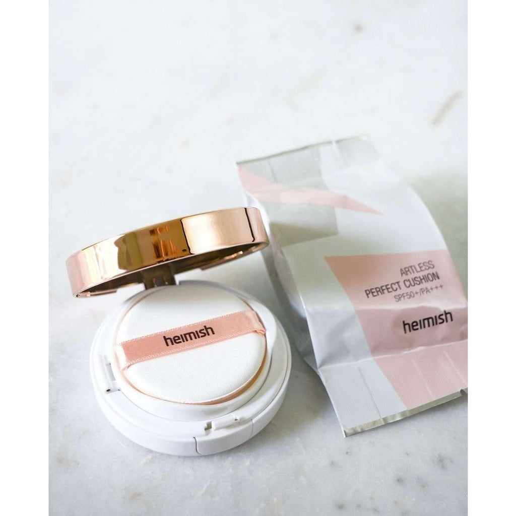 Makeup - [Heimish] Artless Perfect Cushion SPF50+ PA+++ 21 Light Beige - Кушон ( тон №21, светло бежевый ) - Adelline Beauty