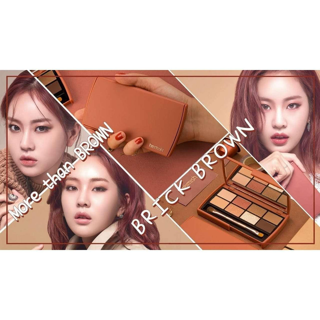 Makeup - [Heimish] Dailism Eye Palette Brick Brown - Набор теней для век Brick Brown - Adelline Beauty