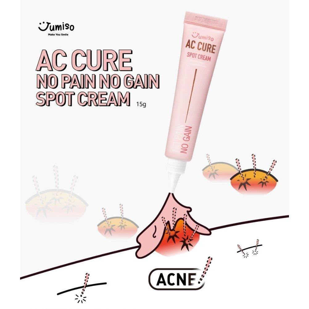 Moisturizer & Treatment - [Jumiso] AC Cure No Pain No Gain Spot Cream [15ml] - Успокаивающий крем для проблемной кожи [15ml] - Adelline Beauty